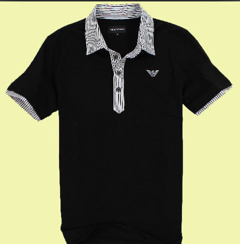 Breathable Cotton POLO T Shirts For Men American Style / Embroidering Logo Available