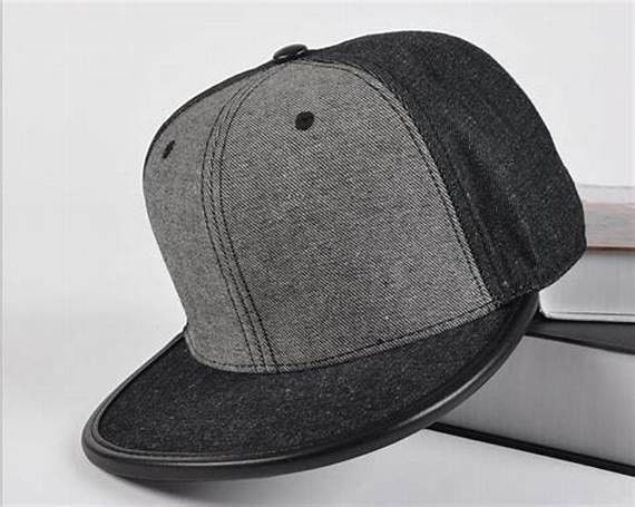 Leather Brim Wool Mens Fitted Baseball Hats , Strap Snapback Hats Embroidering Blank